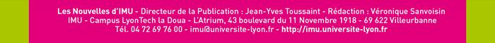 Pied de page - Les nouvelles d'IMU - imu@universite-lyon.fr